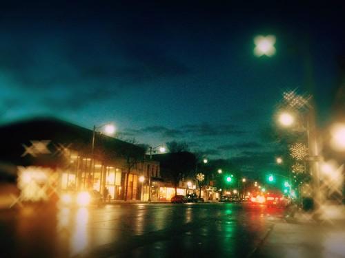 night lights downtown by kim/ber