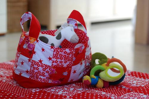 patchwork speelgoedmand