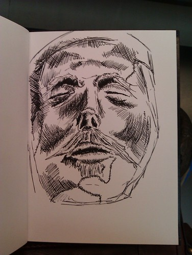 Oliver Cromwell's wax death-mask