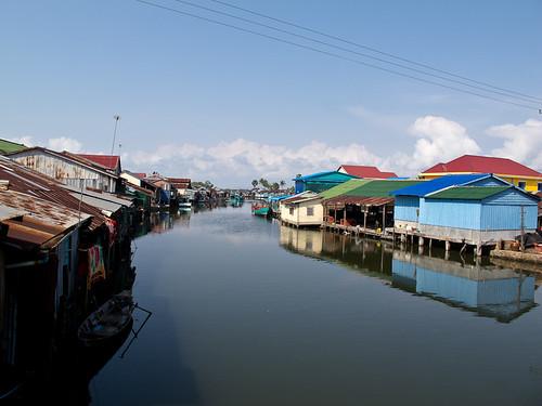 Stilt houses near Kampot