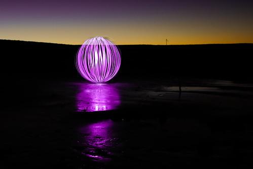 longexposure sunset lightpainting purple orb 1855mm balloflight nikond90