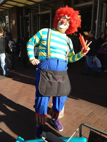 Kenny the Clown on Market Street