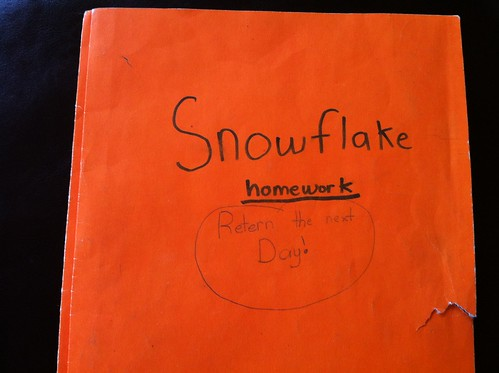 "Folder for ""Snowflake Gets Lost"""