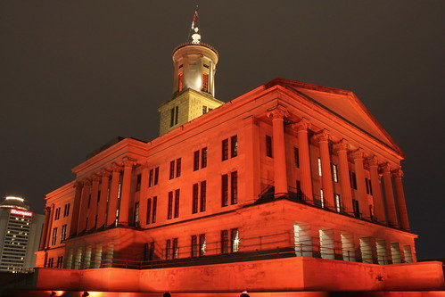Tennessee State Capitol on Wear Red Day