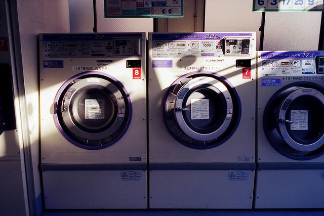 洗濯機の斜光線