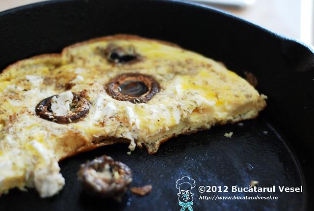 Omelette au champignons...