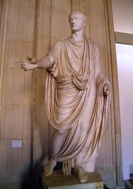 Roman emperor Tiberius (14–37 AD). Marble, found in Capri, Louvre Museum, Paris