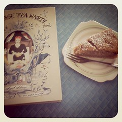 Vintage Tea Party book and a bit of cake
