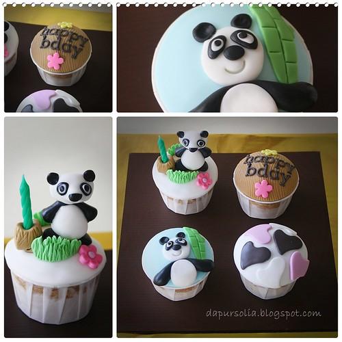 Panda Cupcake Set