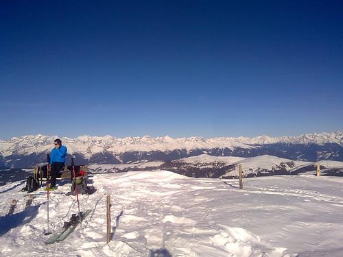 Blick vom Gabler auf den Alpenhauptkamm im Norden