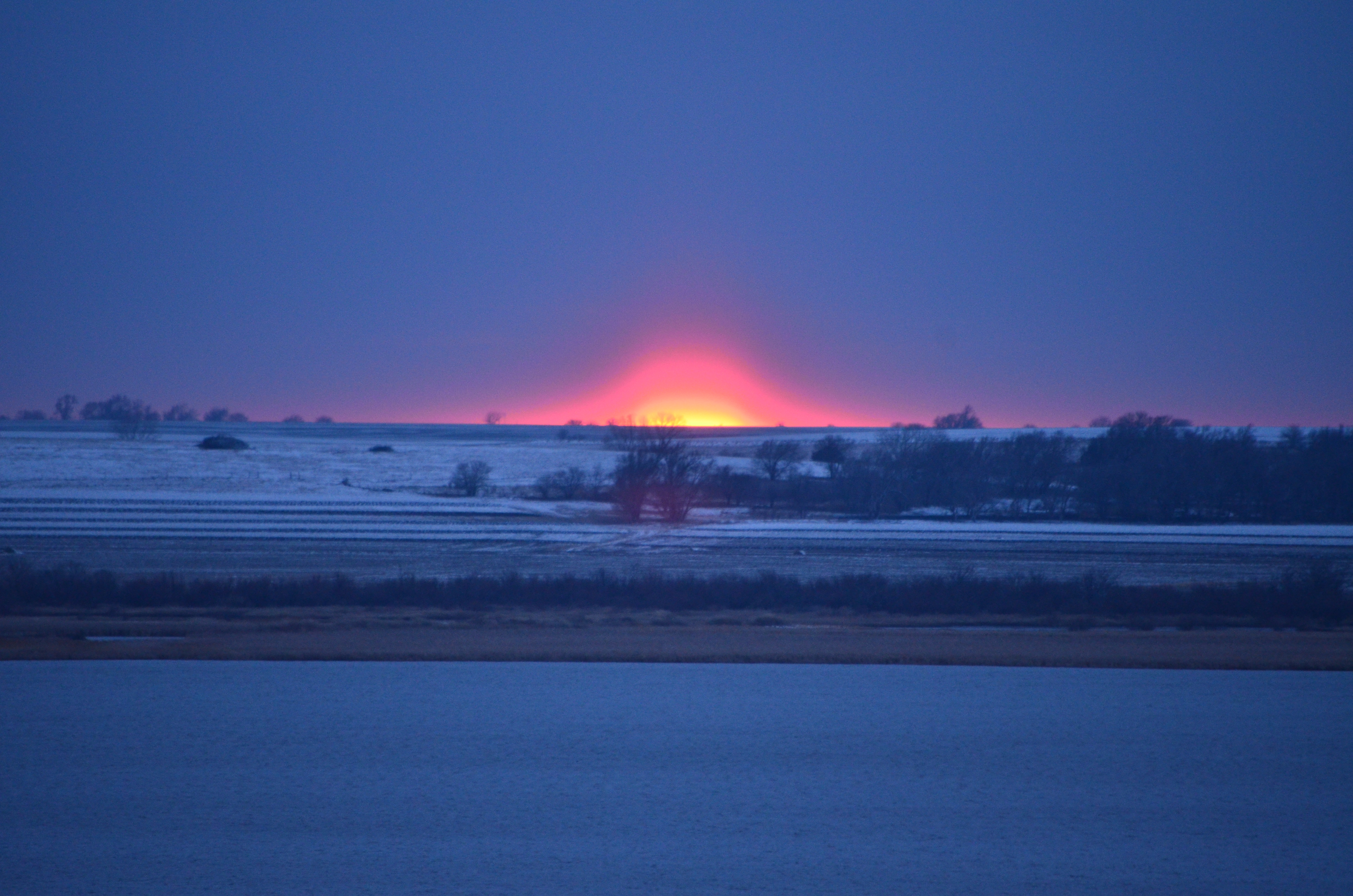 Kansas jewell county randall - Snowy Sunset Ks Kansas Randall Postoffices Jewellcounty