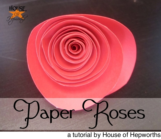 How to make paper roses for Easy things to make out of paper for kids