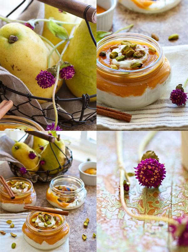 Carrot Pear Sauce Parfait Recipe-collage1