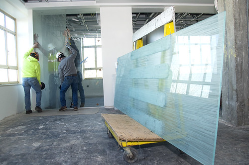Installing glass