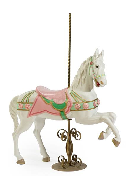 Carved and painted carousel horse after a model by William Dentzel carved by Alfred Muller, Lot 7249