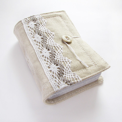 lacy handmade journal