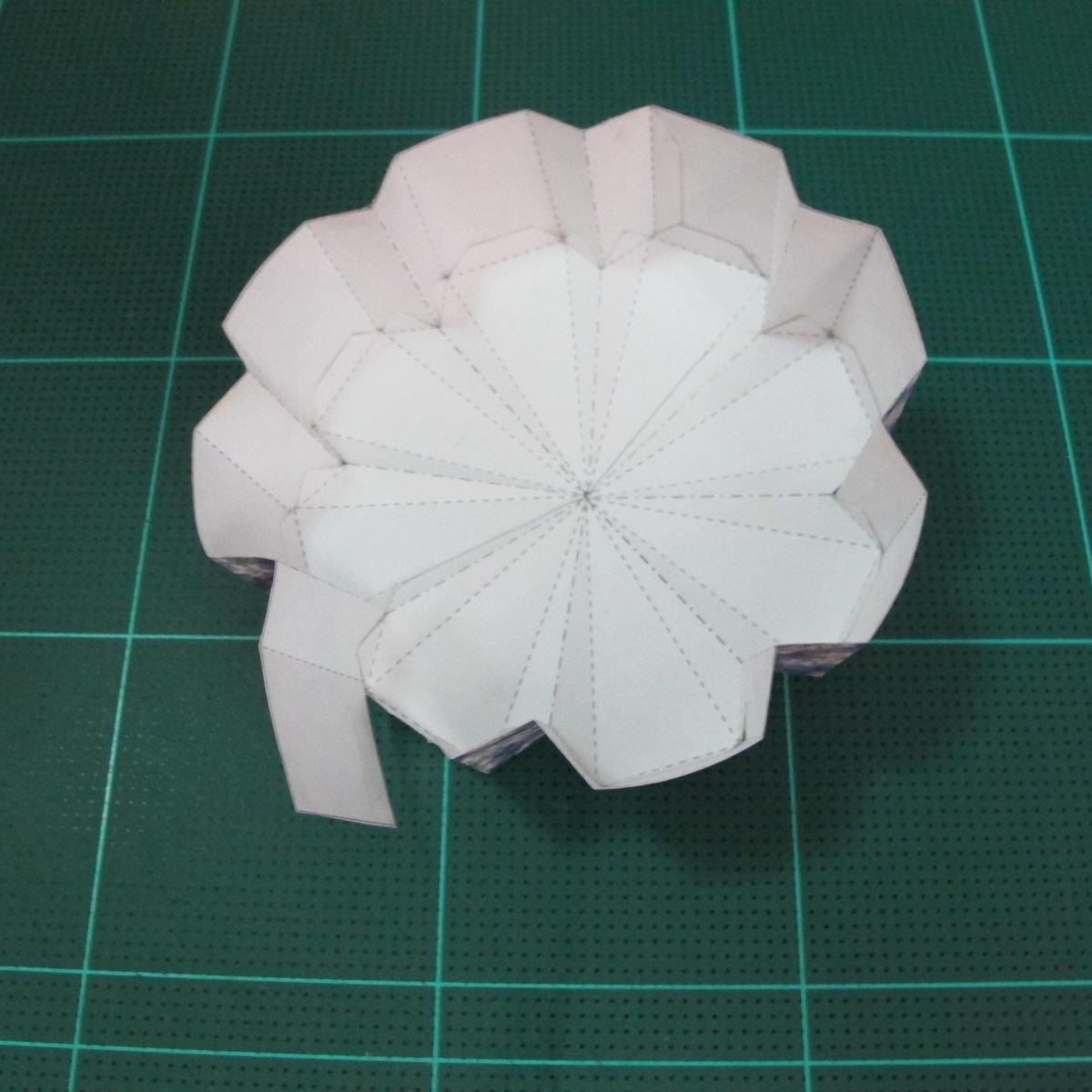 วิธีทำโมเดลกระดาษสำหรับตกแต่งทรงเรขาคณิต (Decor Geometry Papercraft Model) 008