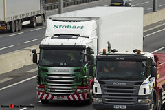 Scania G400 4x2 Tractor with 3 Axle Refrigerated Trailer - PE60 OCJ - Anita - Eddie Stobart - M1 J10 Luton - Steven Gray - IMG_5398