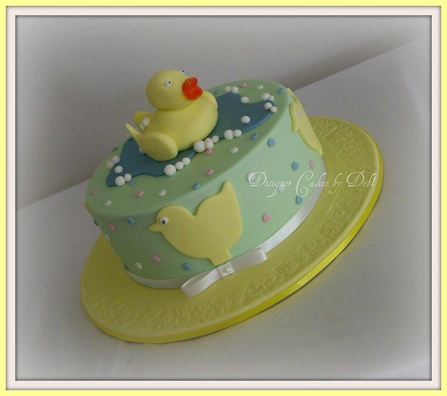 Rubber Duck Baby Shower Cakes http://www.flickr.com/photos/debscakes/6398547737/