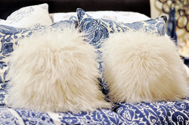 mongolian fur pillows
