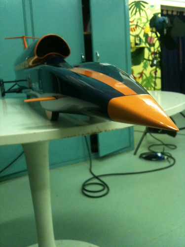 Bloodhound SSC scale model