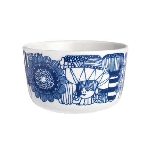 Image from Finnstyle.com Marimekko Blue Siirtolapuutarha Dessert Bowl - 0.25 L