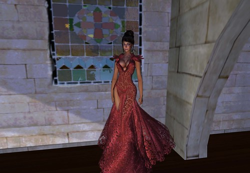 aDiva Couture Liquid Lace Gown Red (blogger package 4) by Cherokeeh Asteria