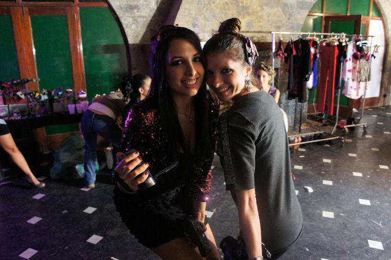 Zule y yo backstage
