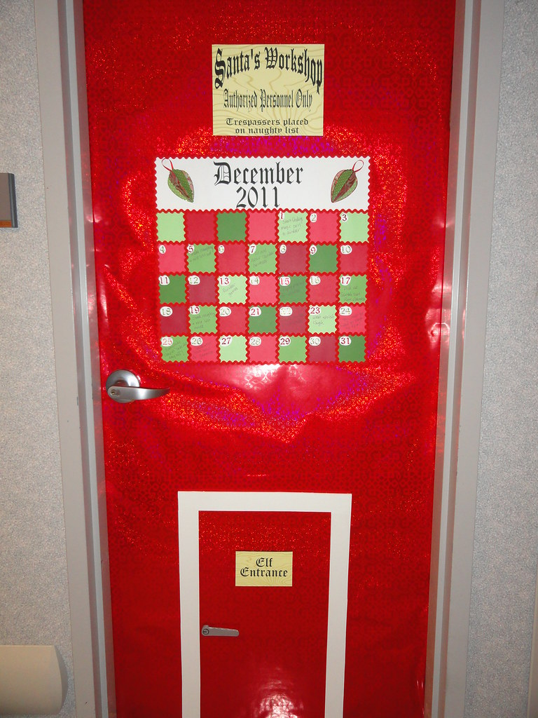 Decorating Office Doors For Christmas Doors For Christmas