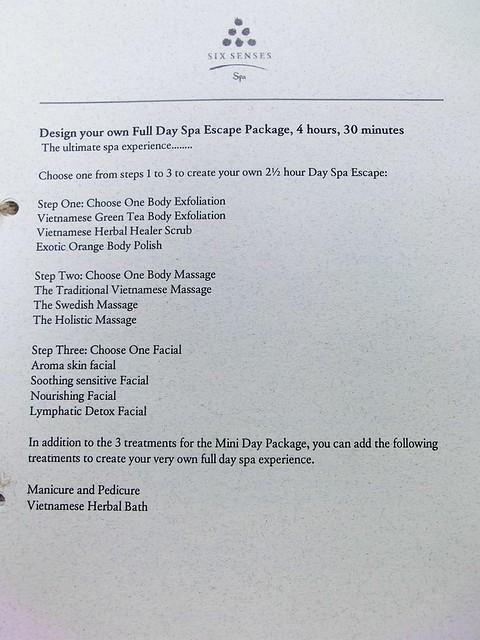 Six Senses Spa Menu & Price List - Six Senses Ninh Van Bay 10