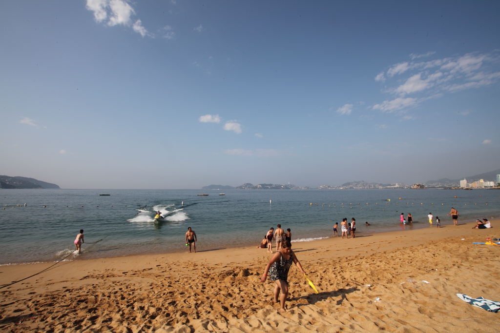 The beach in Acapulco