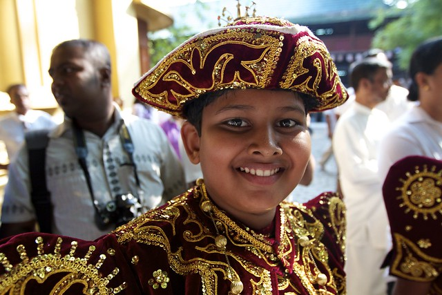 A boy in traditional dress