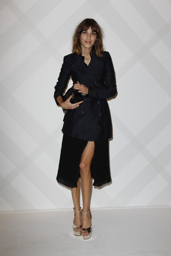 4 - Alexa Chung wearing Burberry at the Burberry Paris event