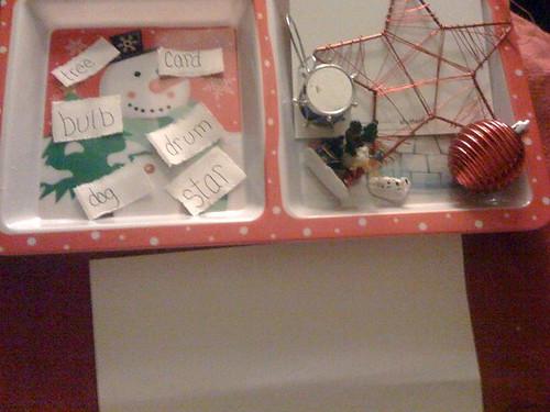 Christmas Word Matching (Photo from Raising Genius Fish)