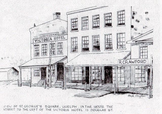 Victoria Hotel Guelph 1870's