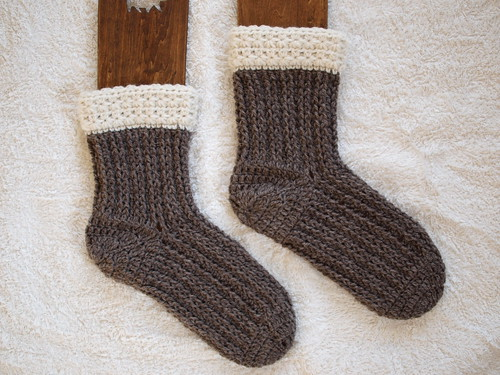 star-crochet socks