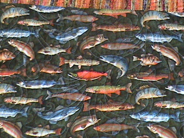 Fish Pattern Quilt   Flickr - Photo Sharing!