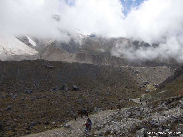 Approaching the high point of 4,600 meters
