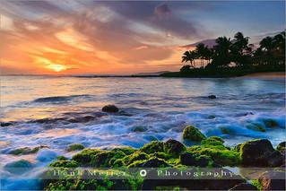 Sunset Poipu Beach - Kauai - Hawaii