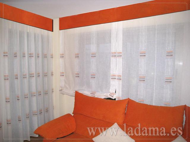 Decoraci n para salones modernos cortinas paneles japoneses estores enrollables flickr - Cortinas actuales para salon ...