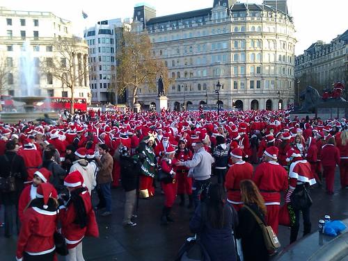 Santas at Trafalgar square