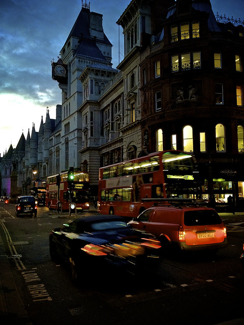 London streetside at dusk #travel #photo