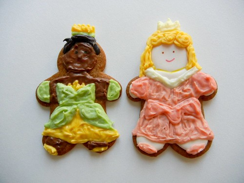 tiana and sleeping beauty cookies