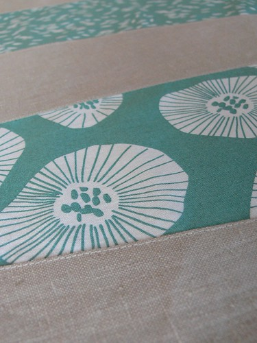 Jenny: aqua Wonky Stripe table runner