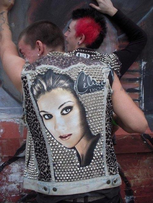 celine dion studded vest DIY punk