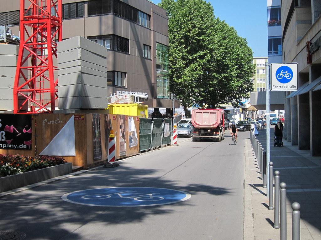 Mejlgade eksempel Fahrradstrasse-Stuttgart