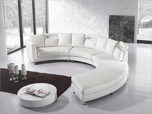 circular design round sectional sofa