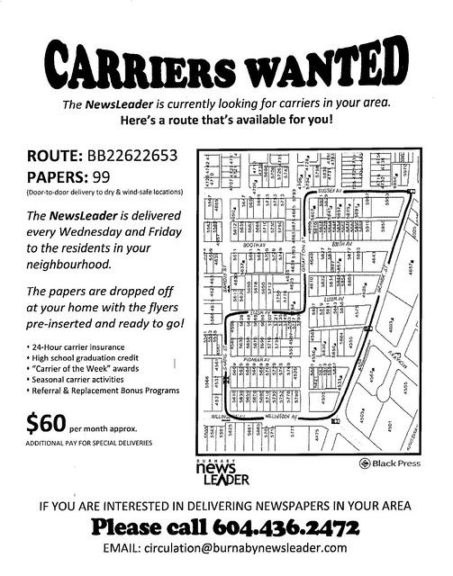 NewsLeader carrier job flyer 001