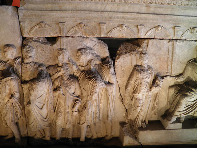 Plutei of Trajan, inside the Curia Julia, Rome