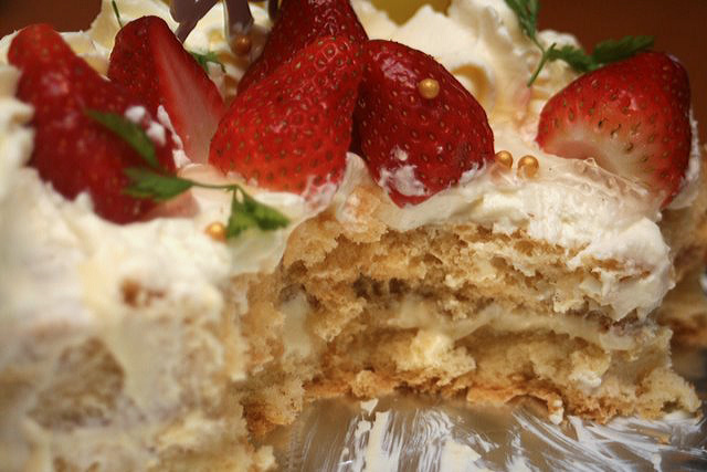 Strawberry shortcake from Tampopo Deli